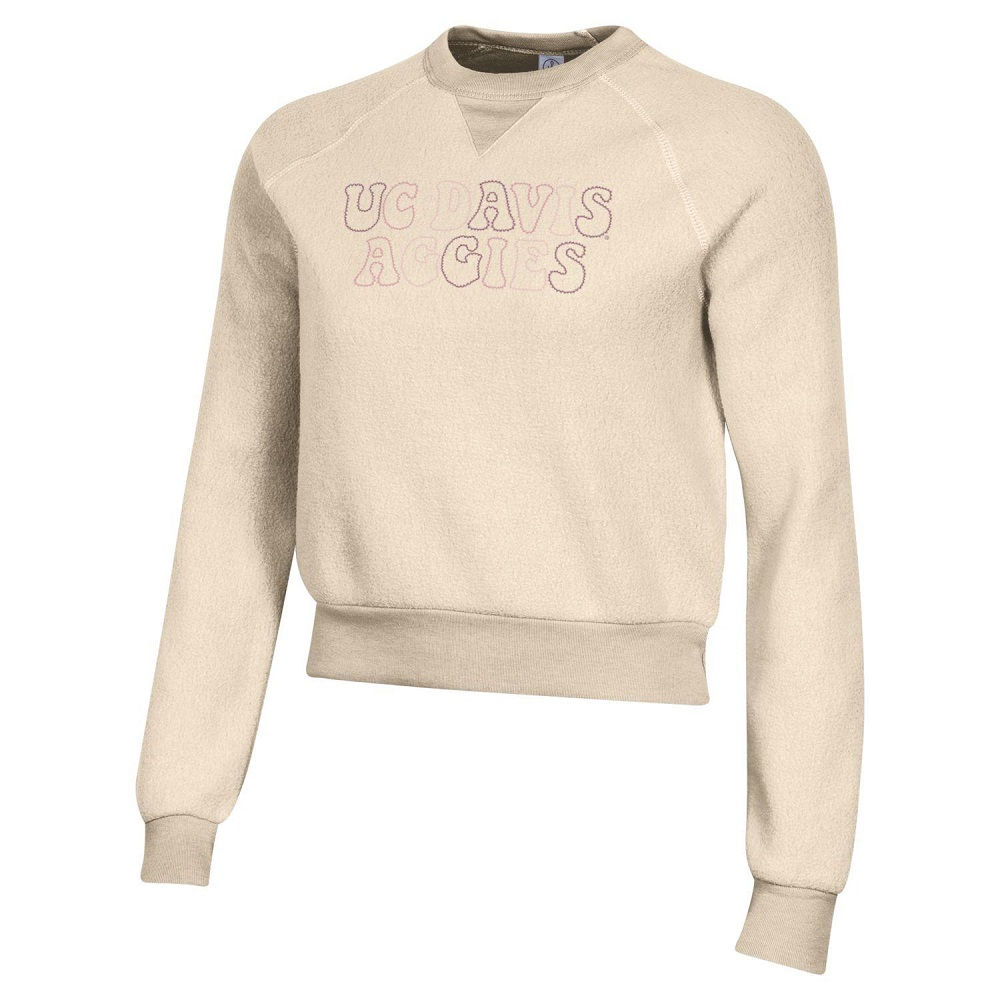 Image For Gear® Women's Ivory Eco-Fleece Crew