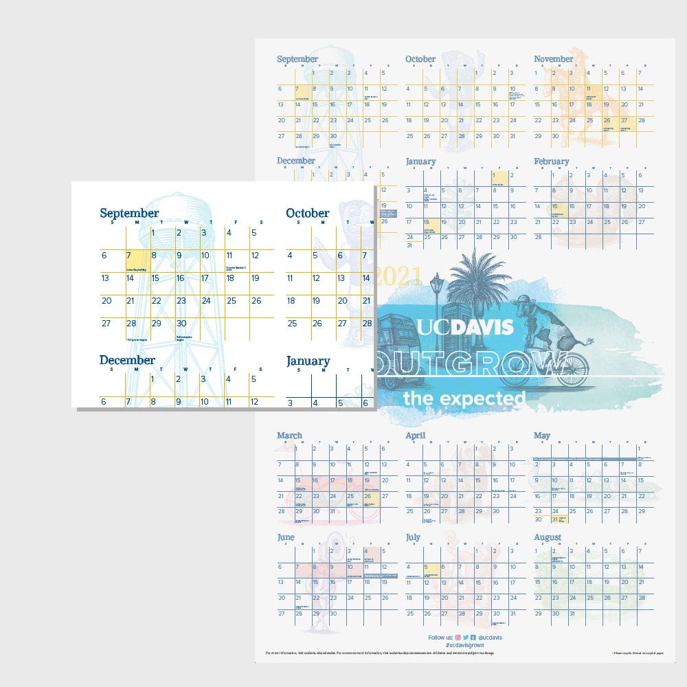 Uc Davis Academic Calendar 2021 FOLDED CALENDAR 20 21   UC Davis Stores