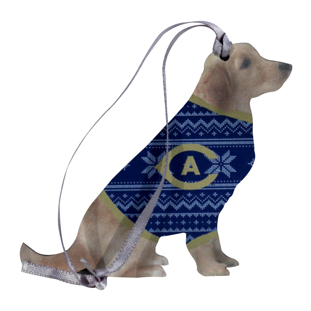 Image For Legacy® UC Davis Dog In Sweater Ornament