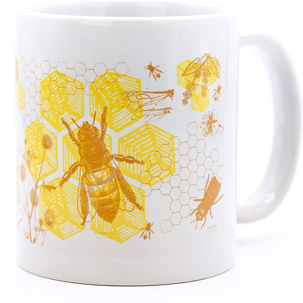 Image For Cognitive Surplus Honey Bees Ceramic Mug 20oz.