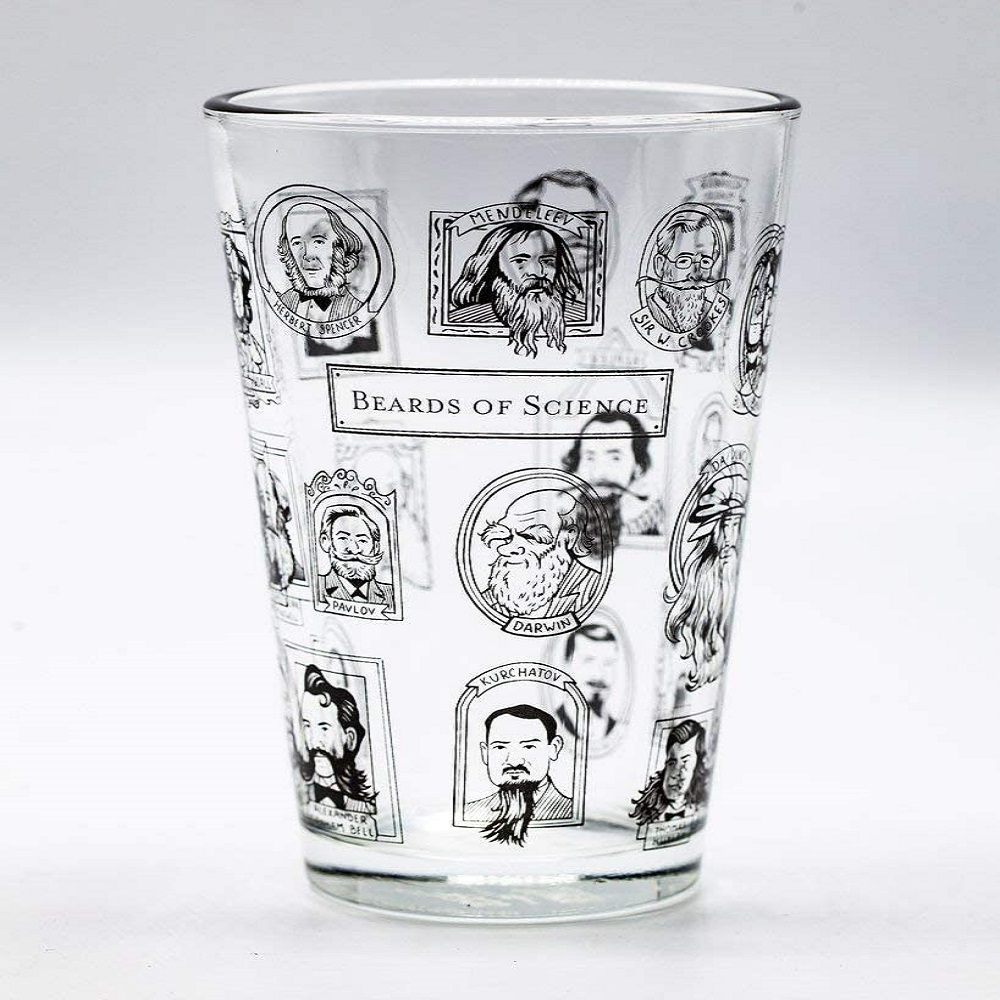 Image For Cognitive Surplus Beards Of Science Pint Glass