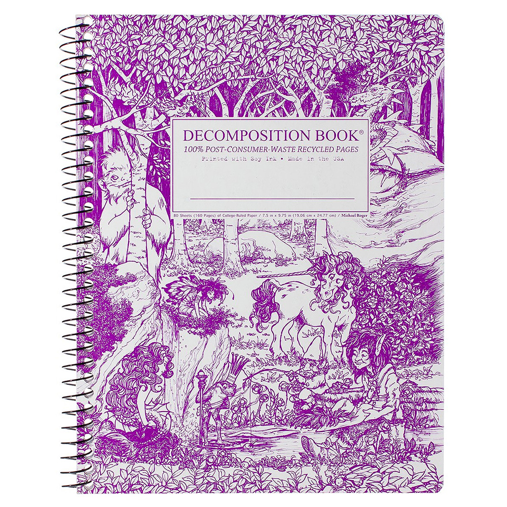 Image For Decomposition® Book Spiral Fairytale Forest