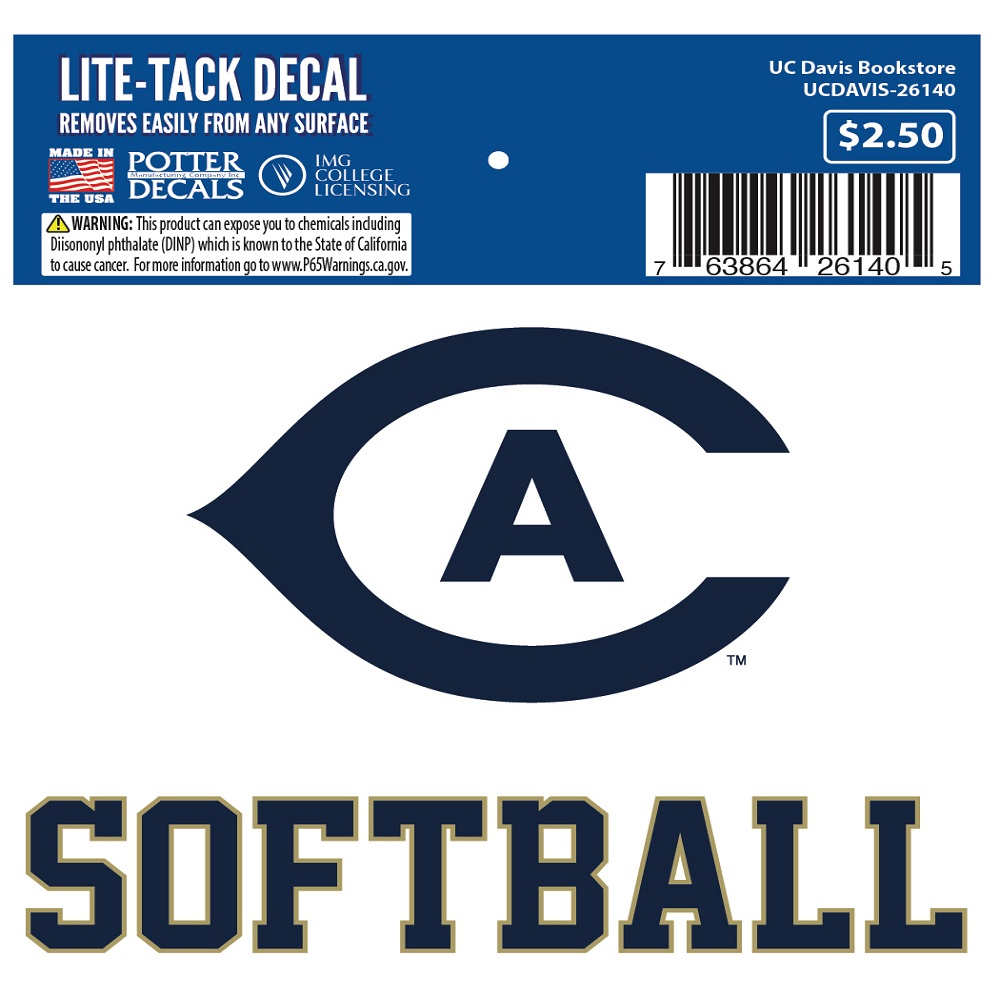Image For UC Davis Cal Aggie Softball Decal