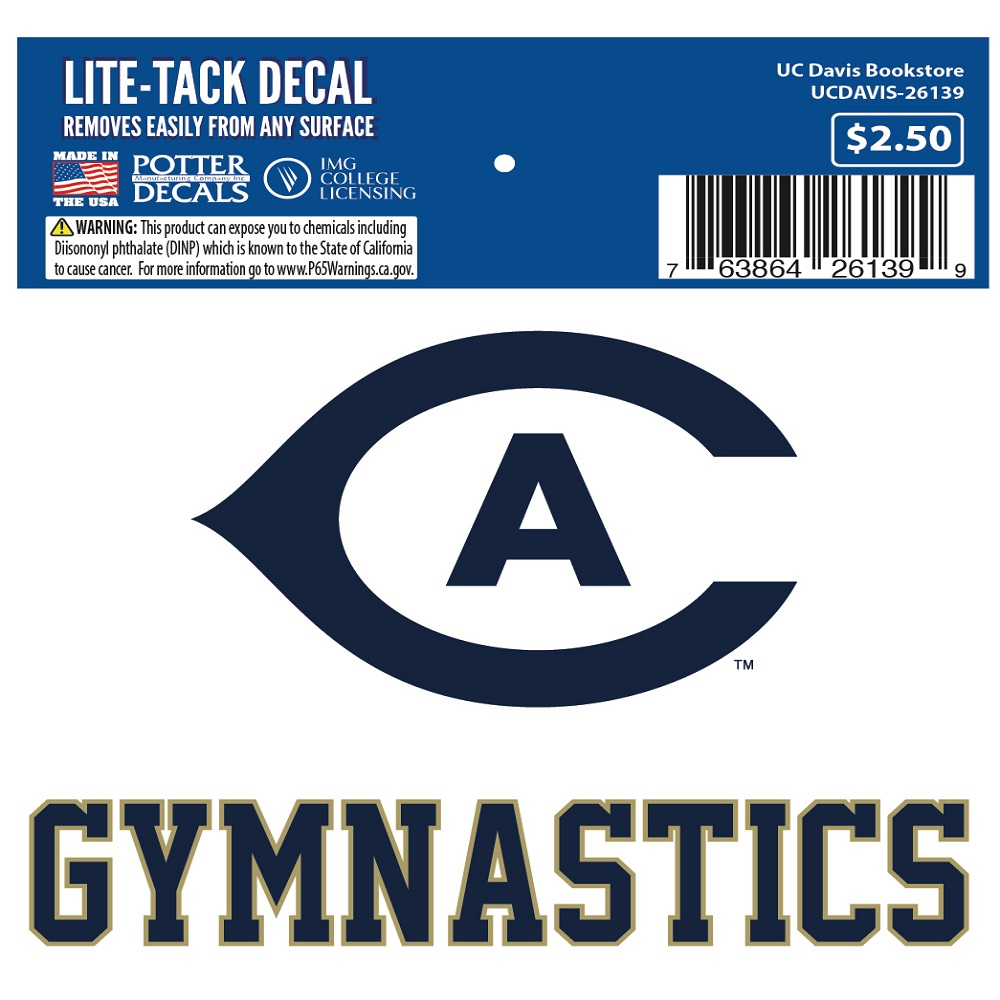 Image For UC Davis Cal Aggie Gymnastics Decal