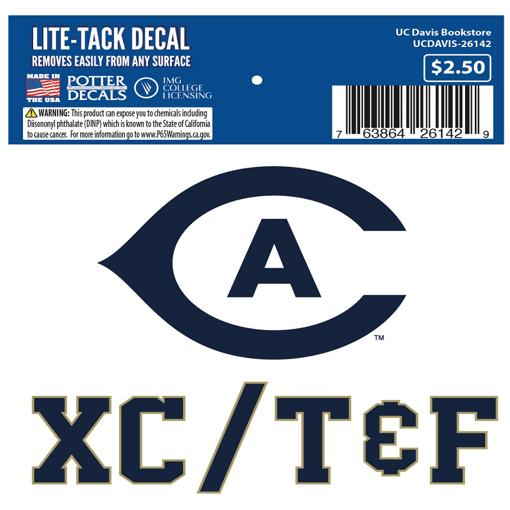 Image For UC Davis Cal Aggie XC/T&F Decal