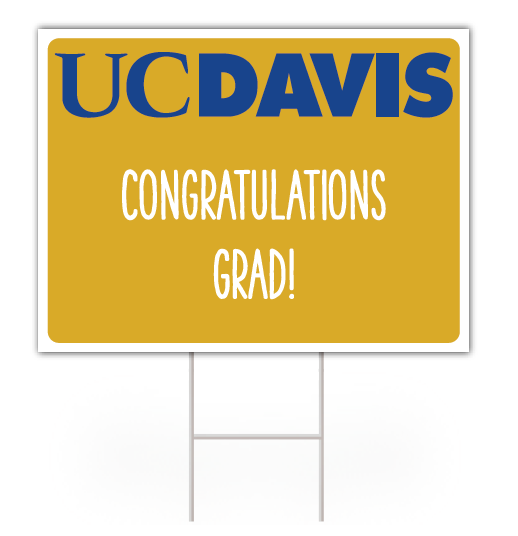 Image For UC Davis Graduation Lawn Signs