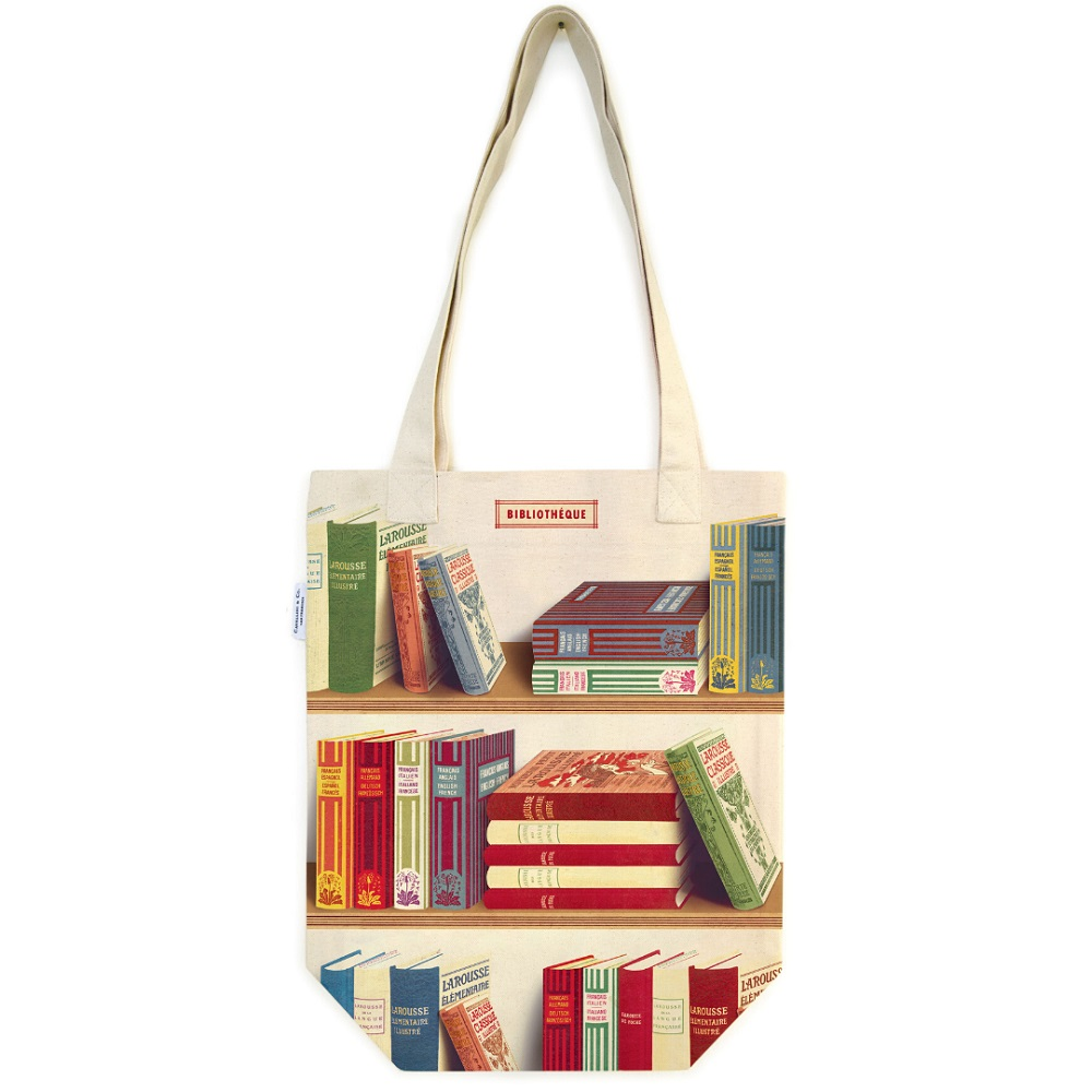 Image For Cavallini & Co. Library Books Canvas Tote
