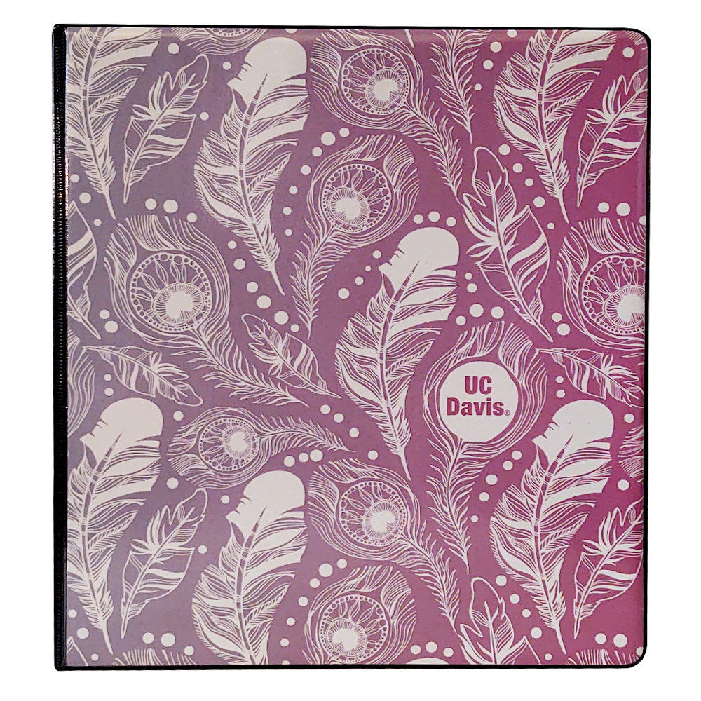 Image For Binder UC Davis Split Tone Feather Pattern