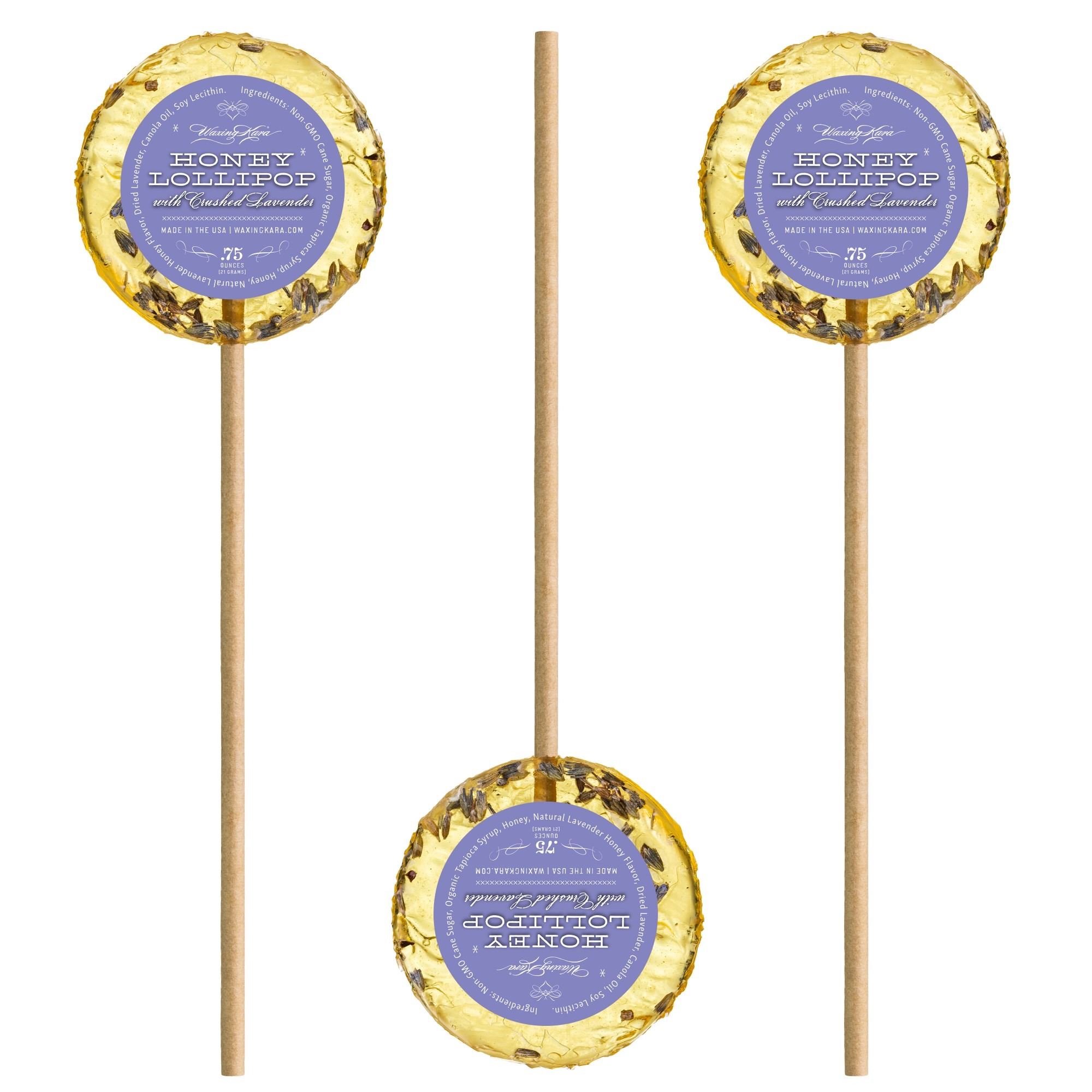 Image For Waxing Kara Lavendar Honey Lollipop