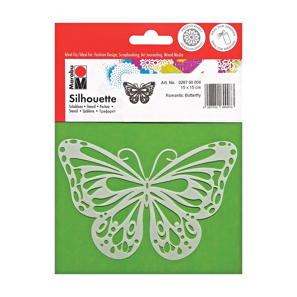 Image For Marabu® Butterfly Stencil Orig $5.69