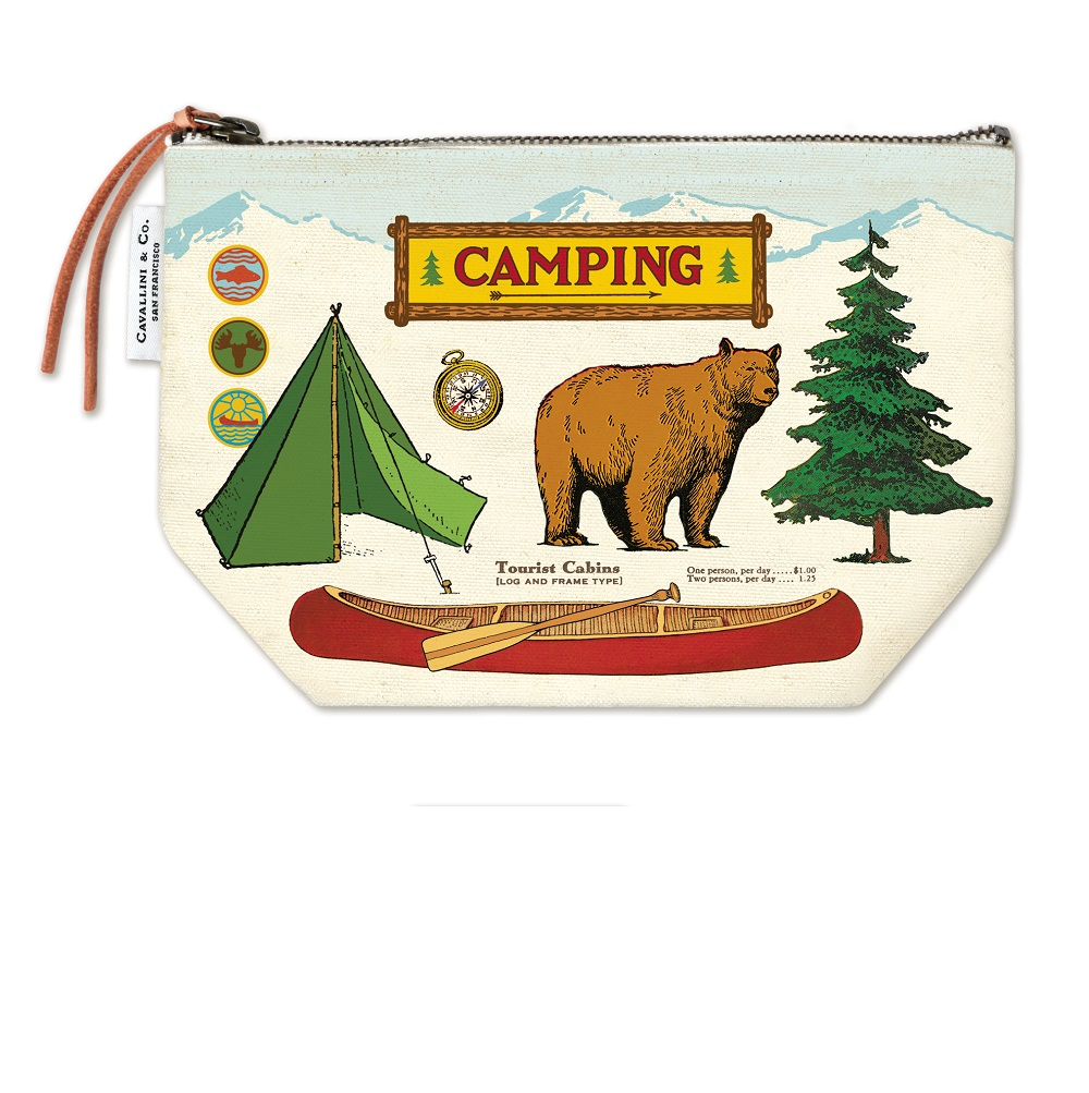 Image For Cavallini & Co. Camping Canvas Pouch