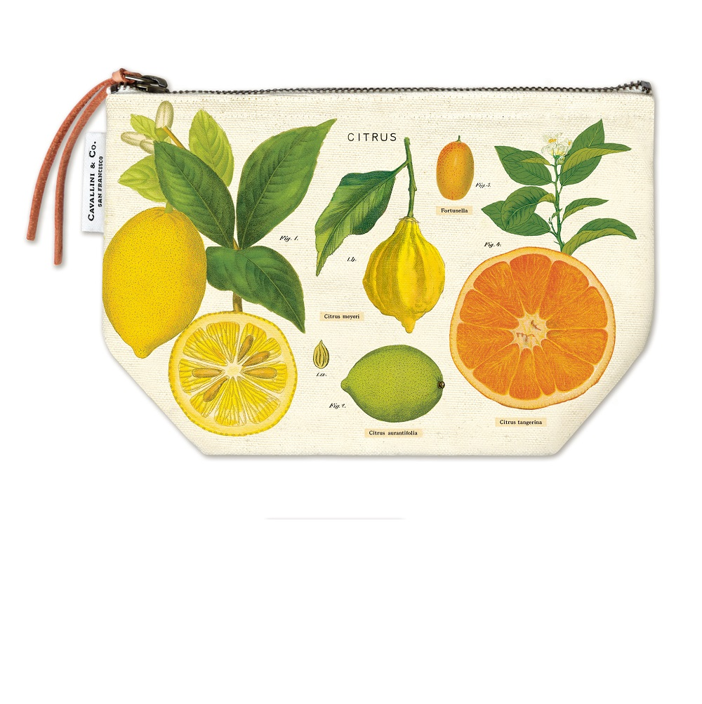 Image For Cavallini & Co. Citrus Canvas Pouch