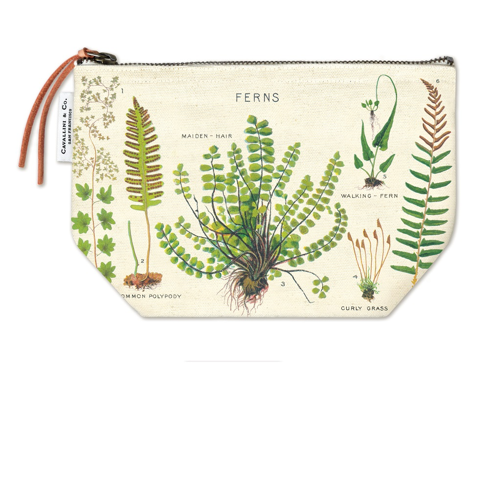 Image For Cavallini & Co. Fern Canvas Pouch