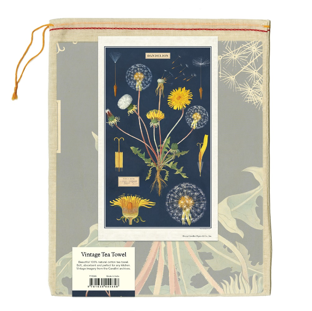 Image For Cavallini & Co. Dandelion Vintage Tea Towel
