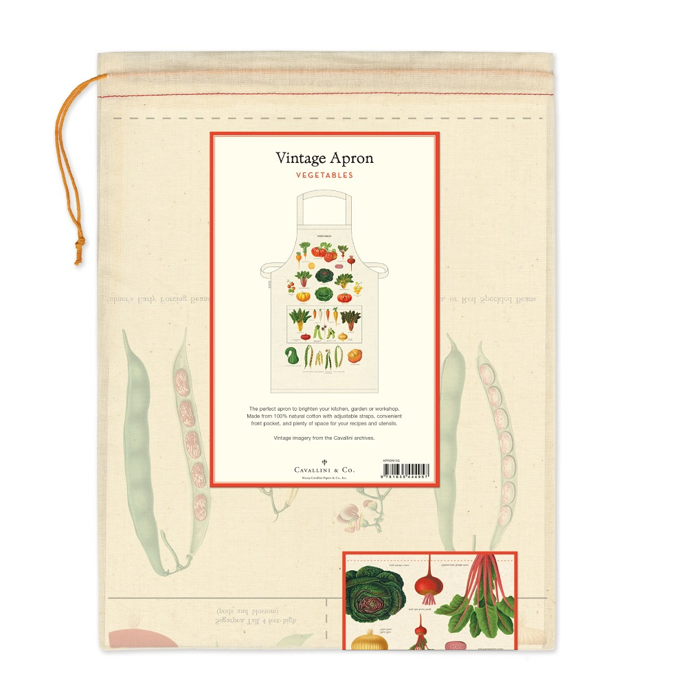 Image For Cavallini & Co. Vegetable Cotton Apron