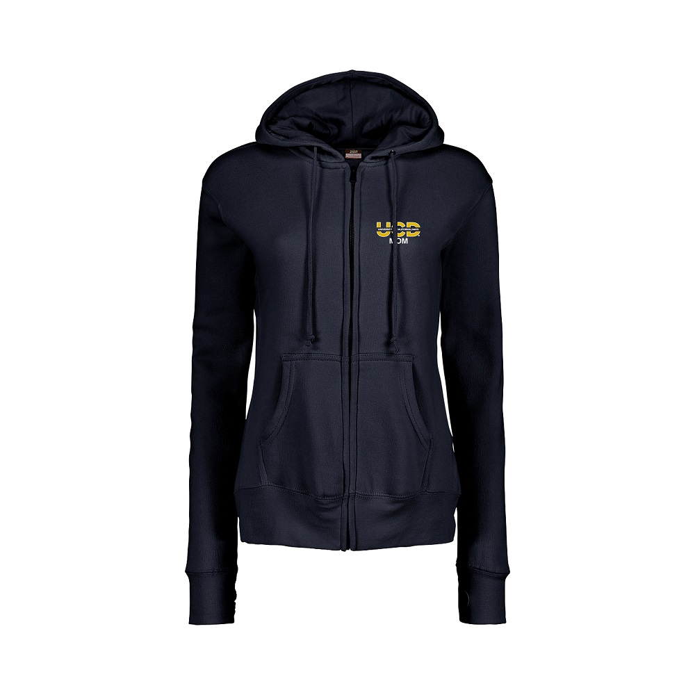 Image For MV Sport Mom Navy Full Zip Fleece