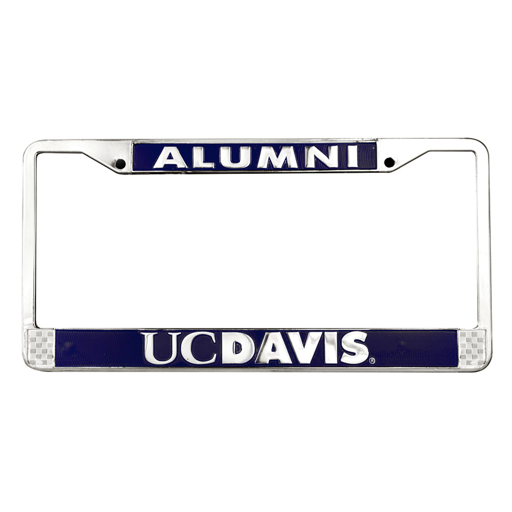 Image For License Plate Frame Alumni Silver