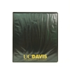 Cover Image for Binder 1 inch Black Clear Pockets UC Davis Font